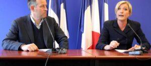 De toevallige voorbijganger die door Rechts Actueel werd opgemerkt blijkt geen onbekende te zijn in de extreemrechtse kringen waar ook Rechts Actueel geen onbekende is. Foto: Laurent Ozon en Marine Le Pen.